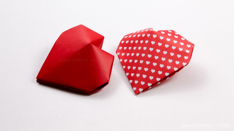 Origami 3D Puffy Heart Instructions via @paper_kawaii