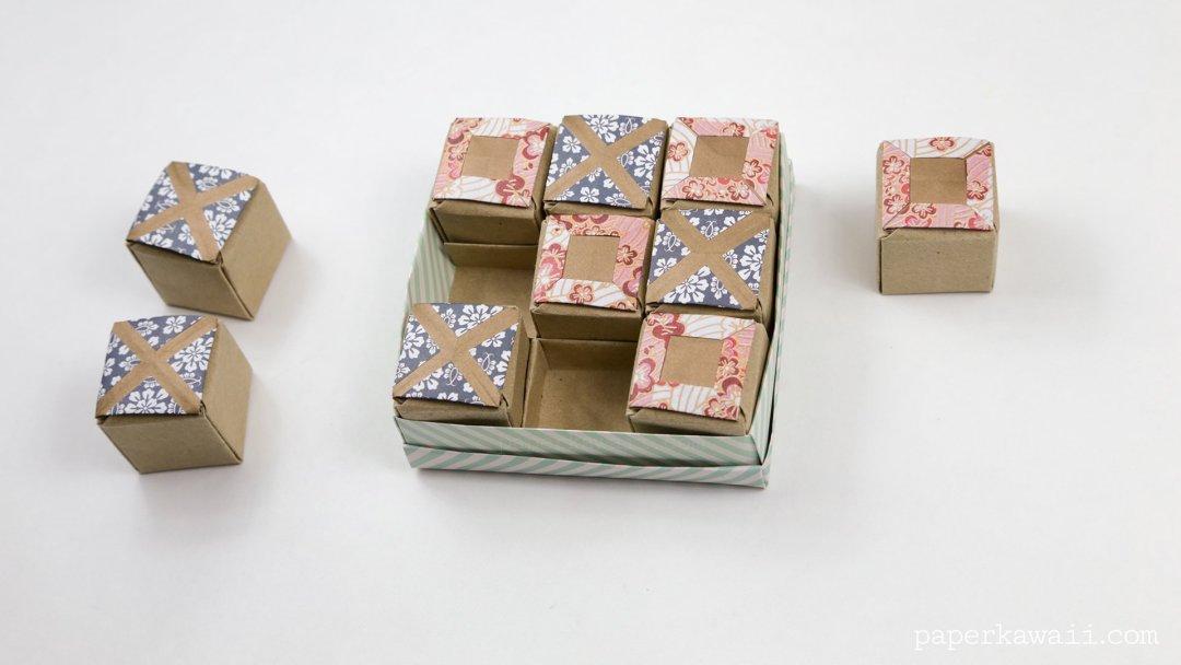 origami tictactoe game instructions paper kawaii