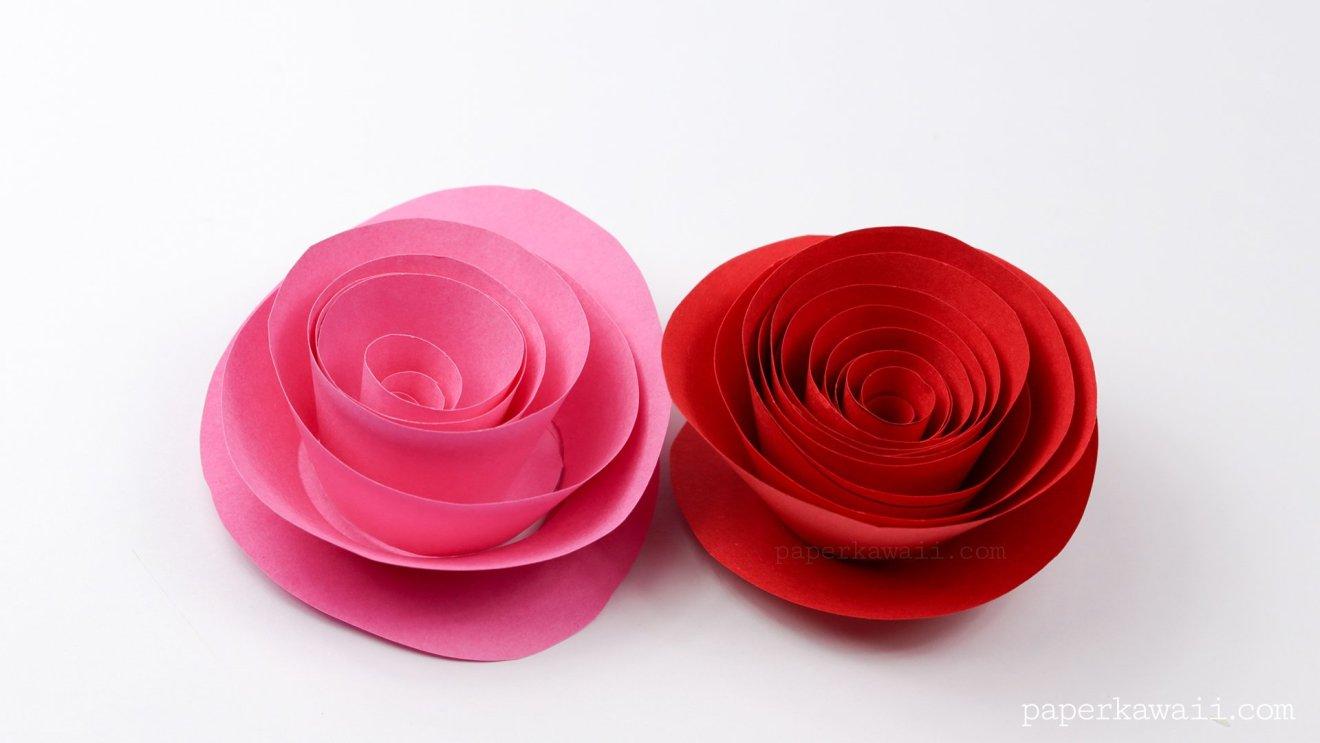 Easy Papercraft Rose Instructions via @paper_kawaii