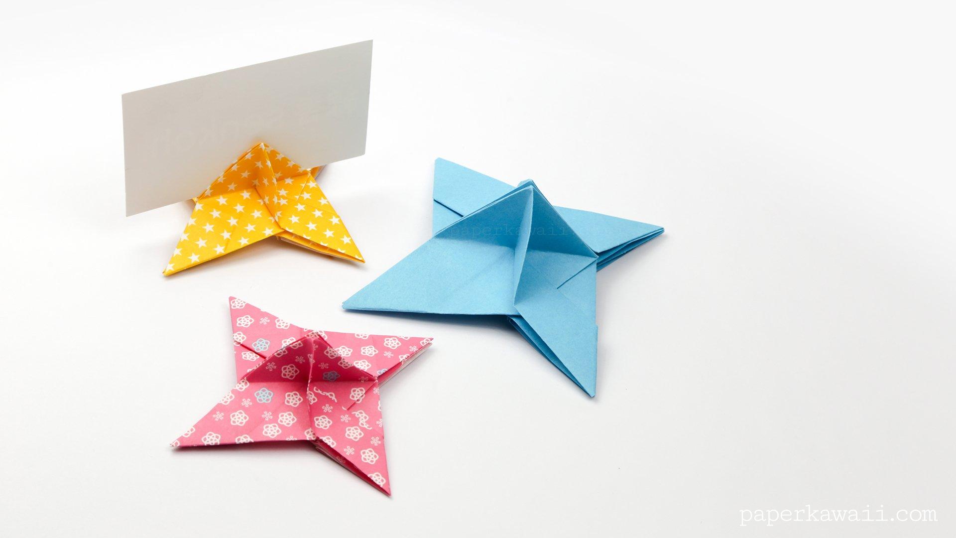 Origami Ninja Star Place Card Holder Paper Kawaii Science Fiction Diagrams