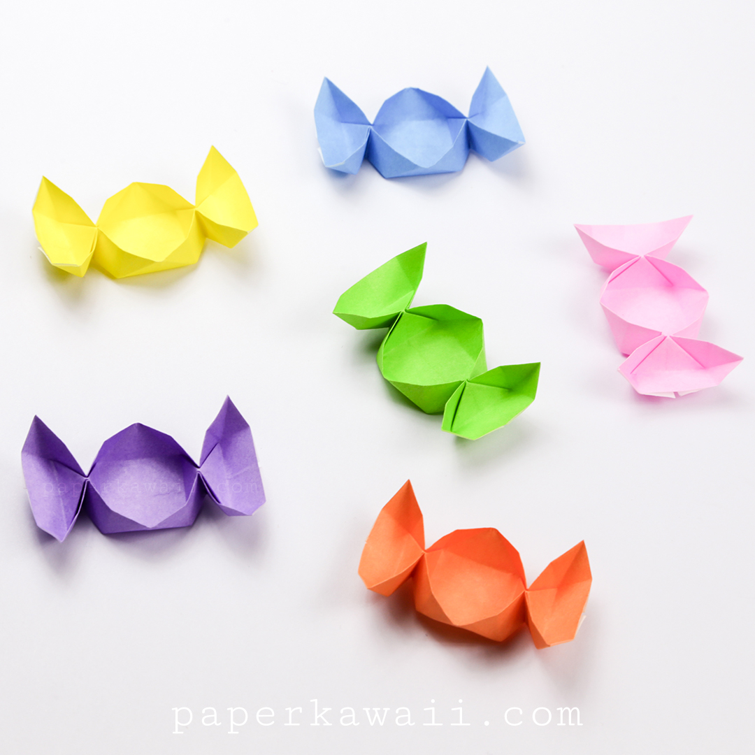 Easy Origami Candy Box Instructions - Paper Kawaii - photo#25