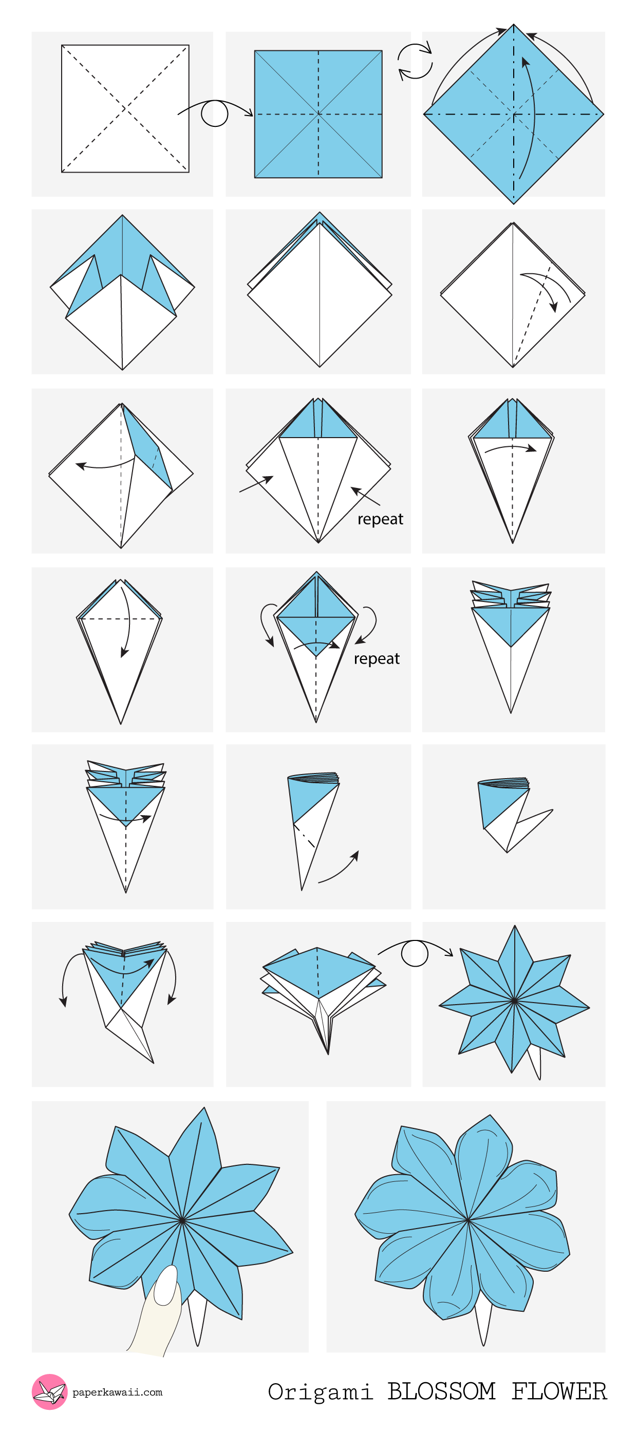 Origami Diagrams  Paper Kawaii