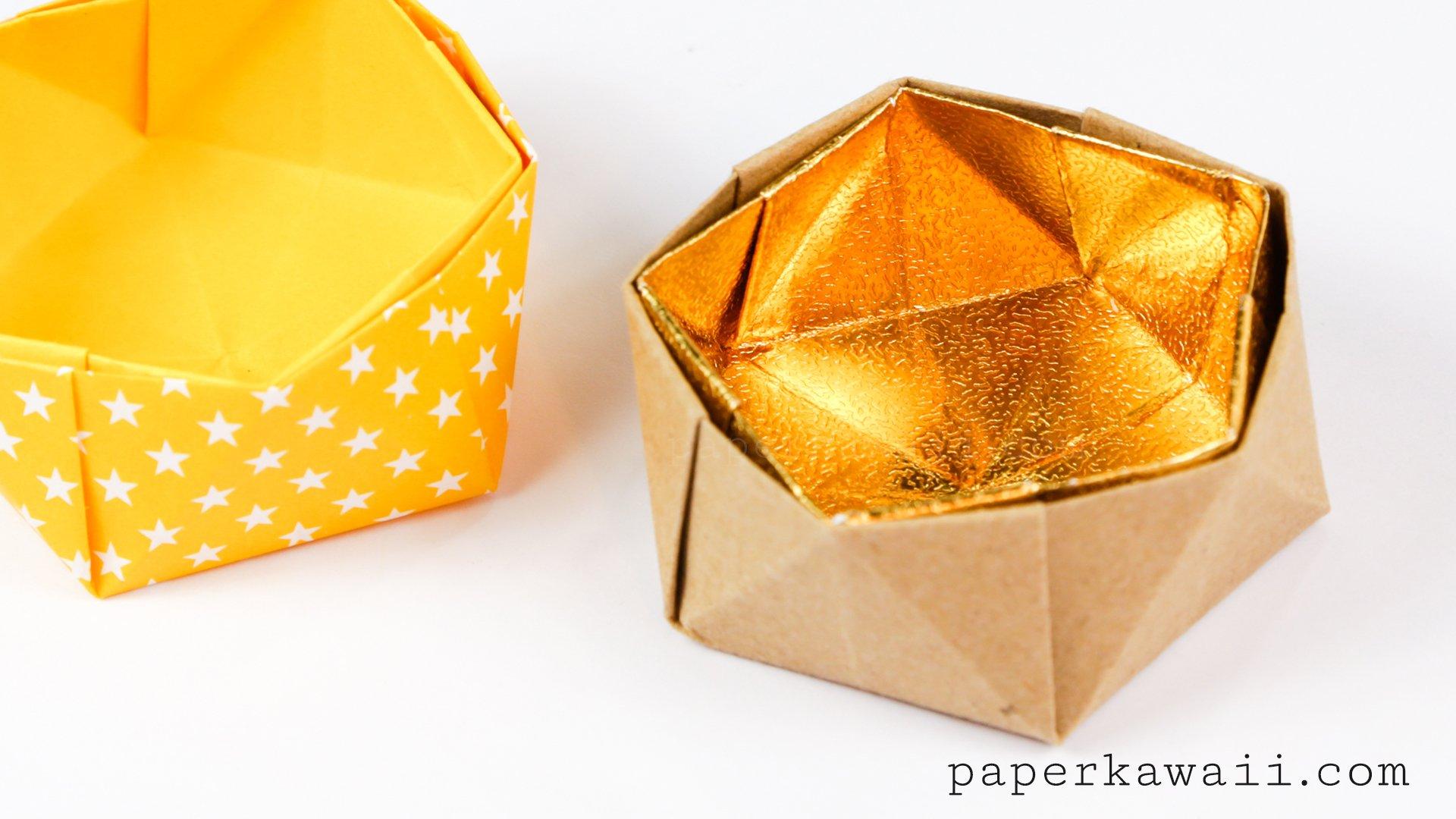 Geometric Origami Bowl Instructions Paper Kawaii