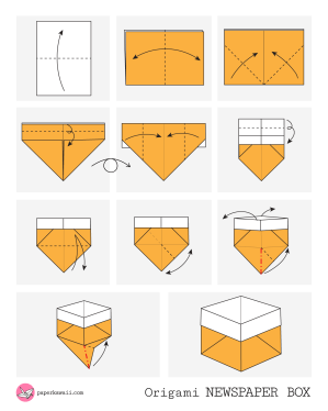 Origami Newspaper Box Diagram