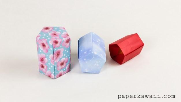 Tall Origami Pot Tutorial – Five Sided