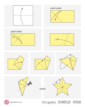 Simple Origami Star - Diagram