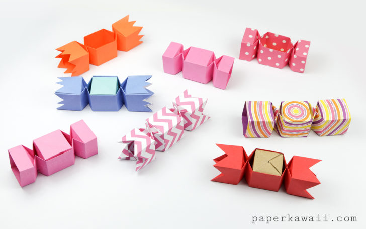 Square origami candy boxes! Paper Kawaii