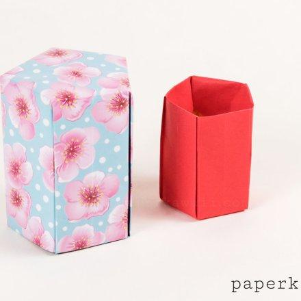 Tall Origami Pot Tutorial - Paperkawaii