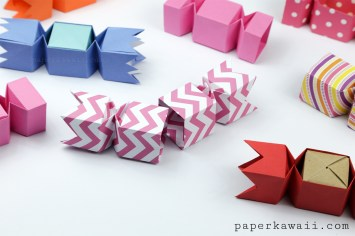 Origami Candy Box - Opening Version Tutorial via @paper_kawaii