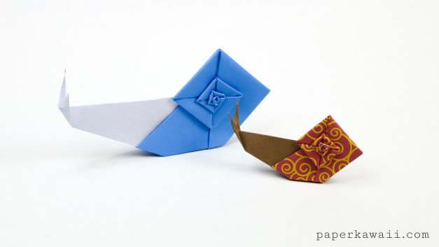 Origami Snail Tutorial & Quick Overview of 'The Origami Garden' by Ioana Stoian