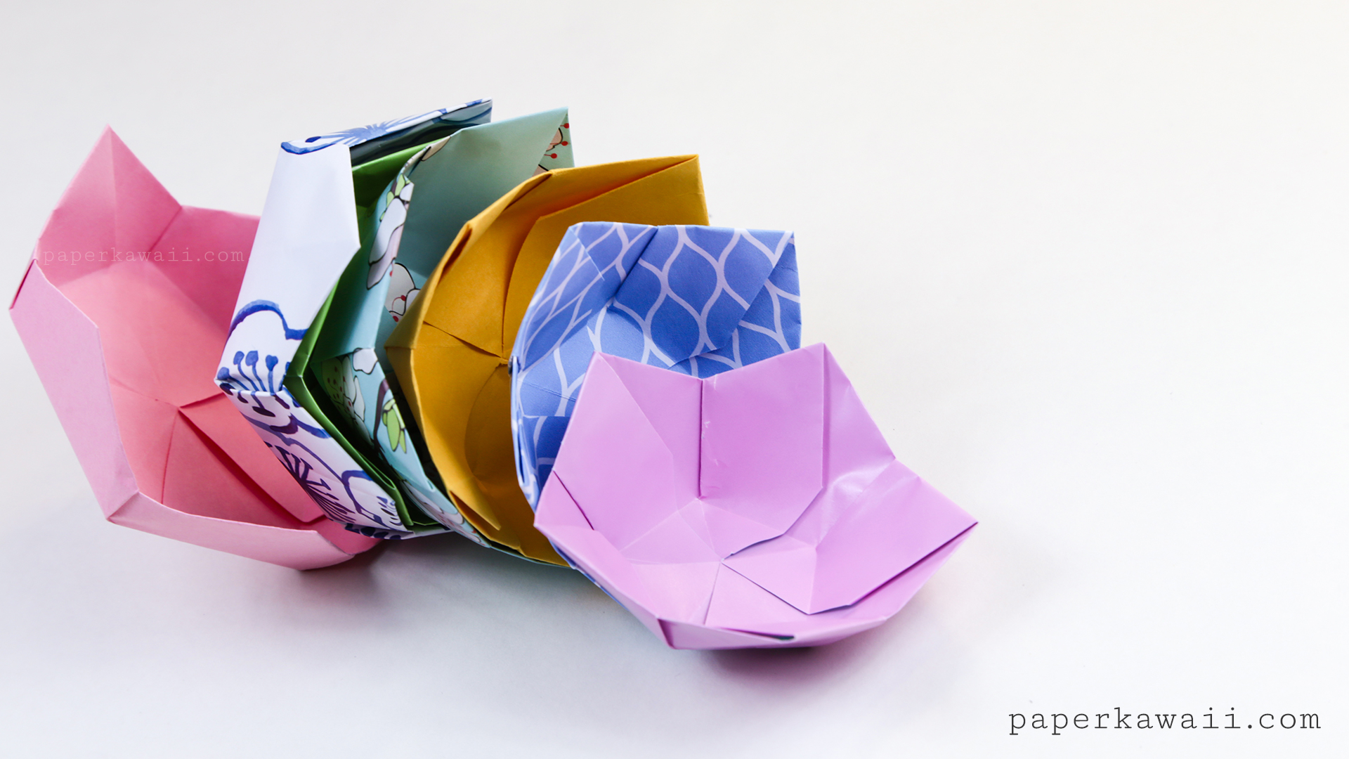 Origami Flower Bowl Tutorial - Paper Kawaii - photo#50