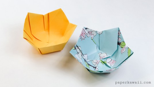 how to make an origami bowl out of paper