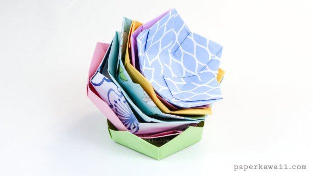 Origami flowers origami flower bowl tutorial mightylinksfo