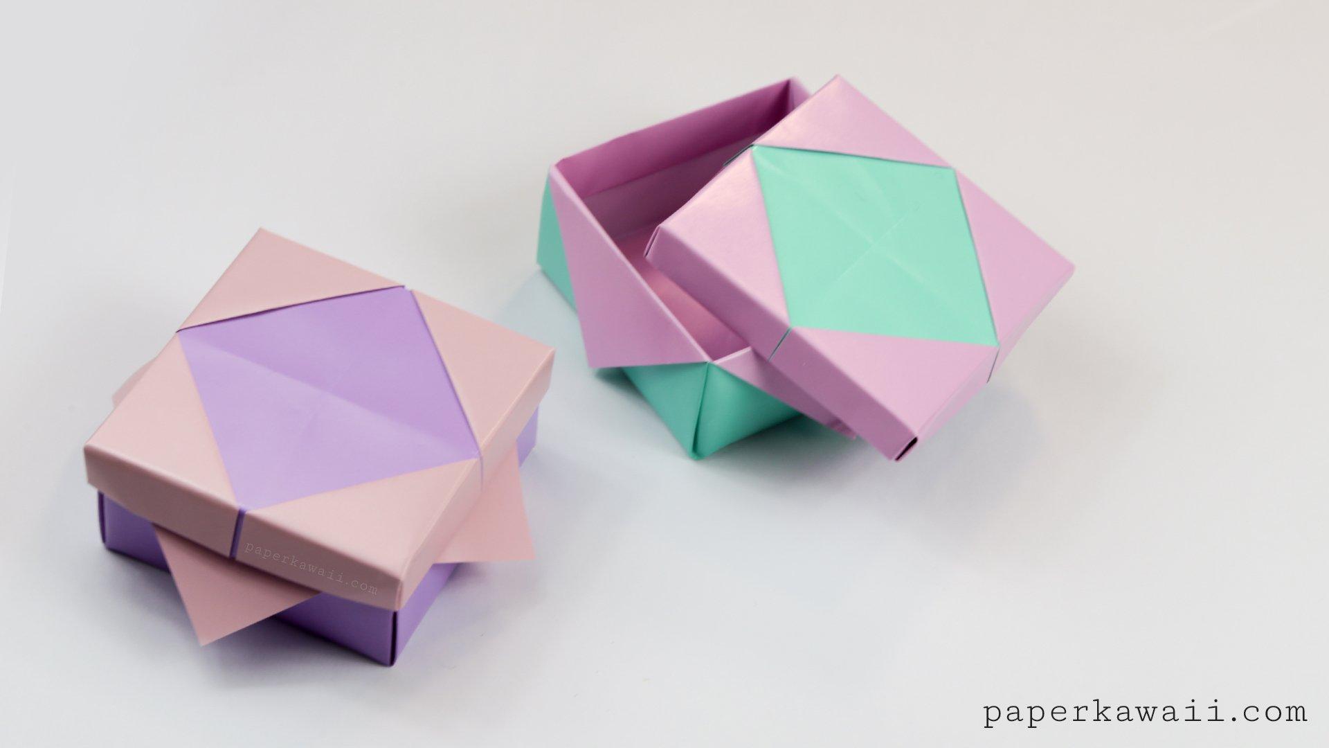 Pretty Origami Frame Lid Tutorial - Paper Kawaii - photo#50