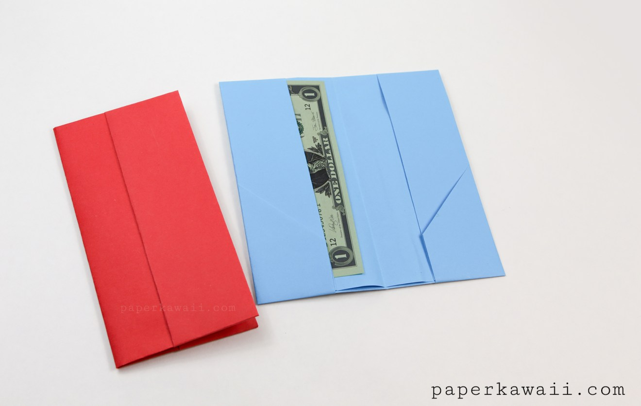 Origami Wallet Instructions - 2 Versions via @paper_kawaii