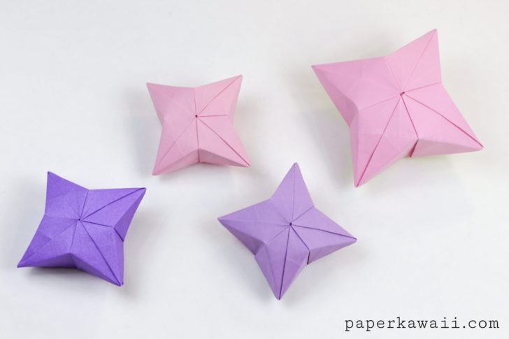3D Origami Puffy Star Tutorial - Paper Kawaii