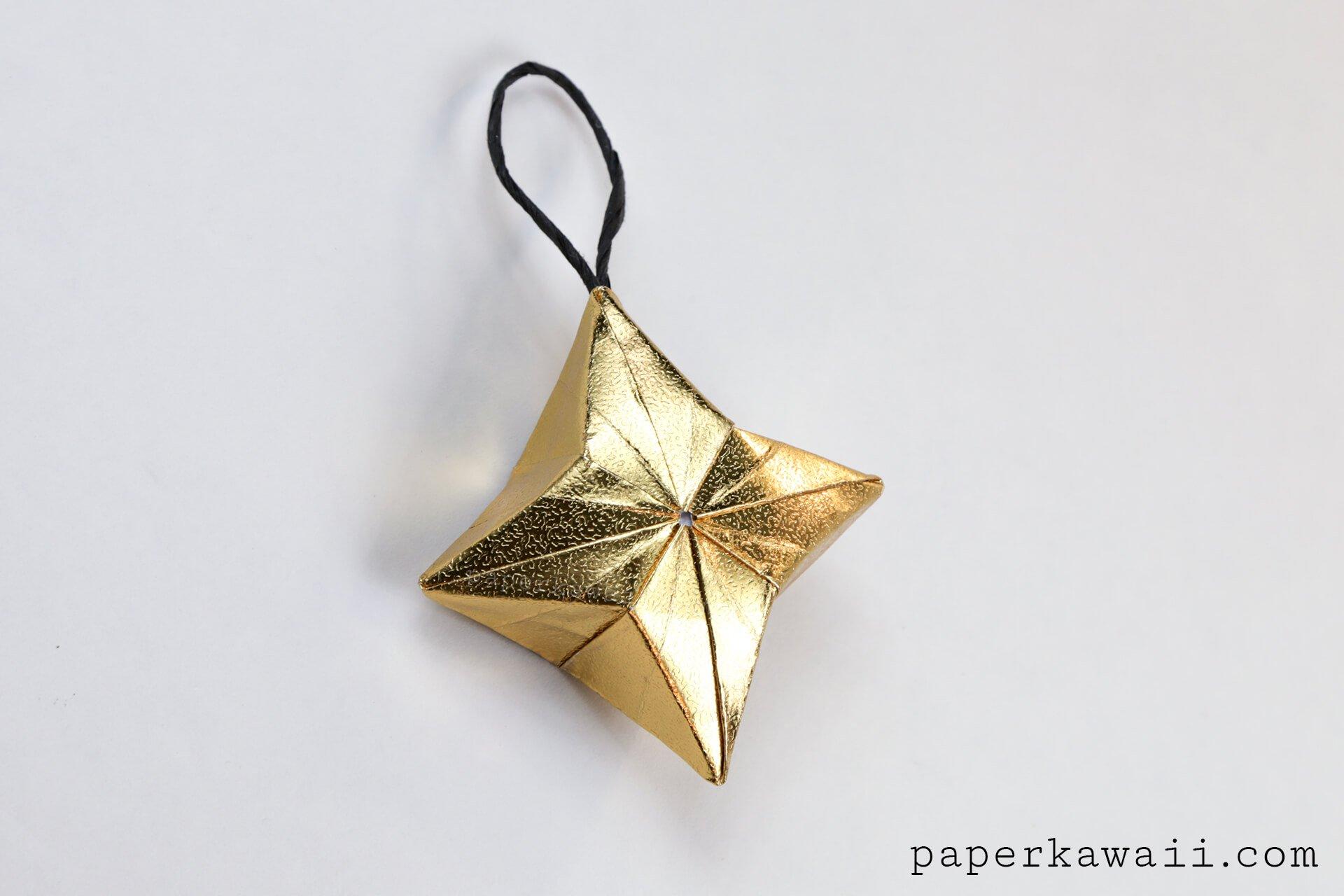 3d Origami Puffy Star Tutorial Paper Kawaii Christmas Ornaments On A Diagram Via