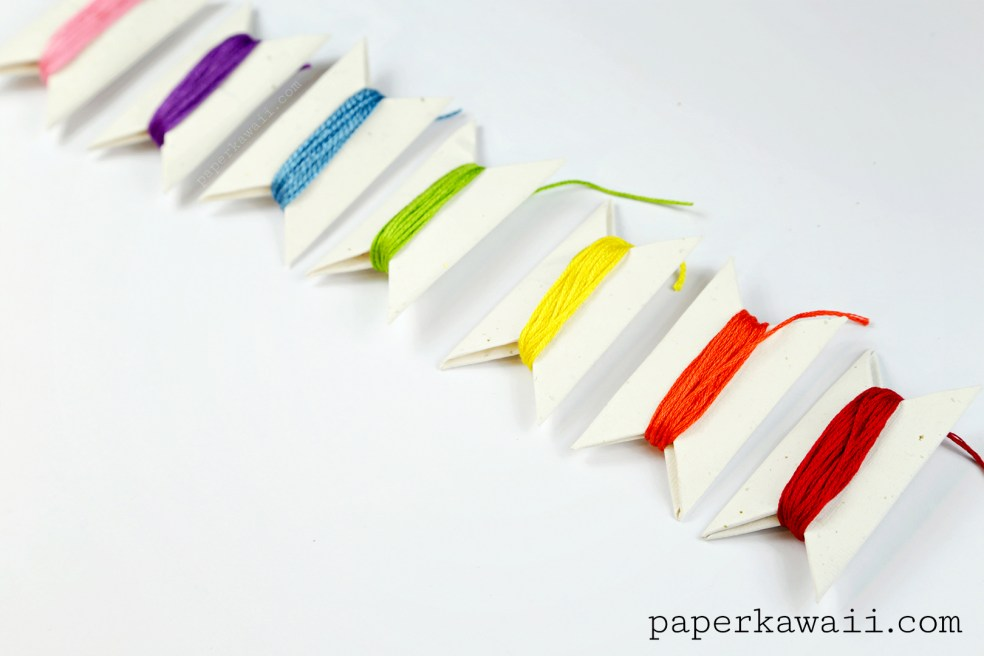 Origami Bobbins to Organise your Threads & Ribbons via @paper_kawaii