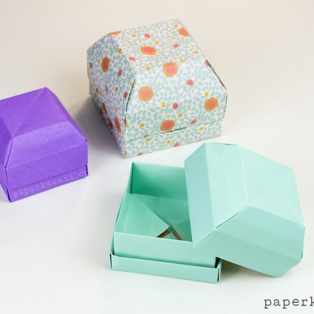 Origami Gem Gift Box Tutorial - These nest inside each other!