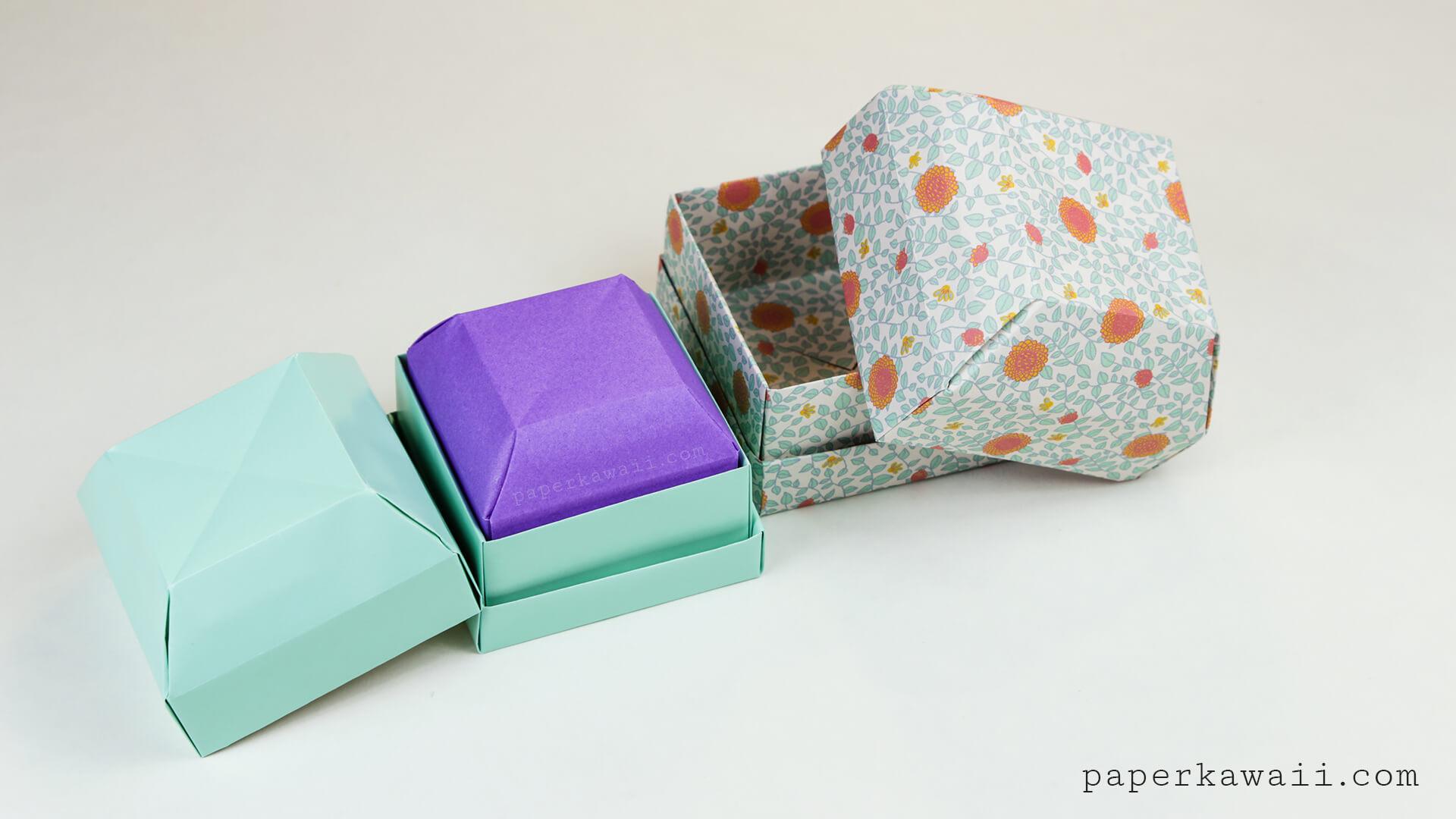 Origami: Ring Box - Instructions in English ( BR ) #diy | Diy ... | 1080x1920
