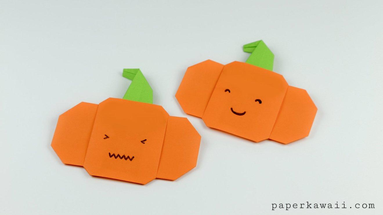 Easy Origami Pumpkin Tutorial For Halloween via @paper_kawaii