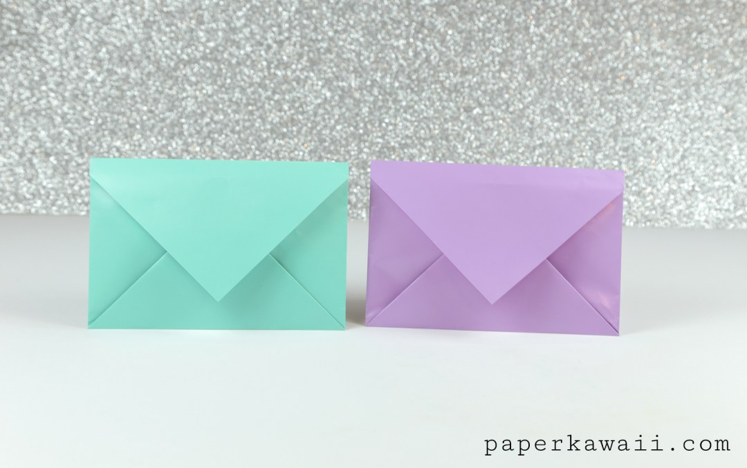 Simple Origami Envelope Video Tutorial via @paper_kawaii