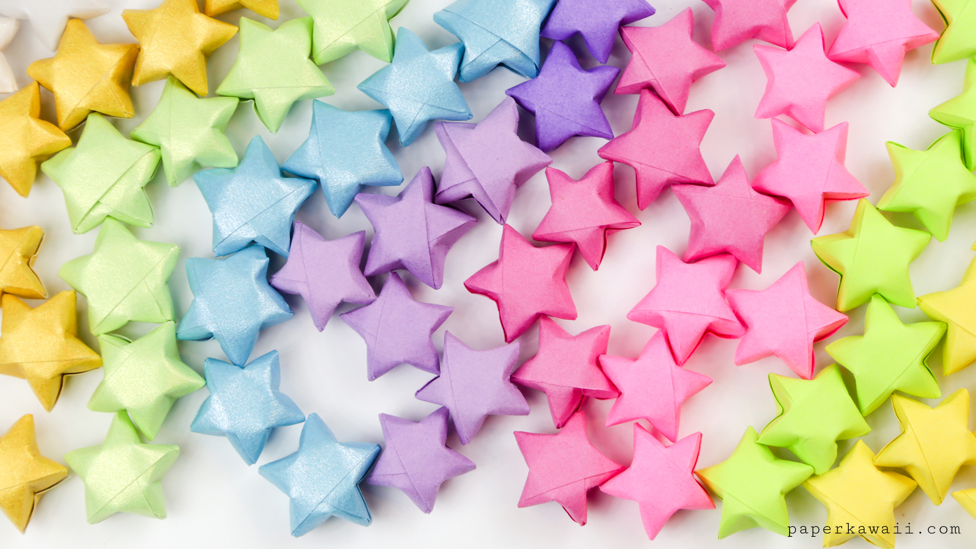 Origami Lucky Stars Tutorial - Easy & Fun! - Paper Kawaii - photo#17