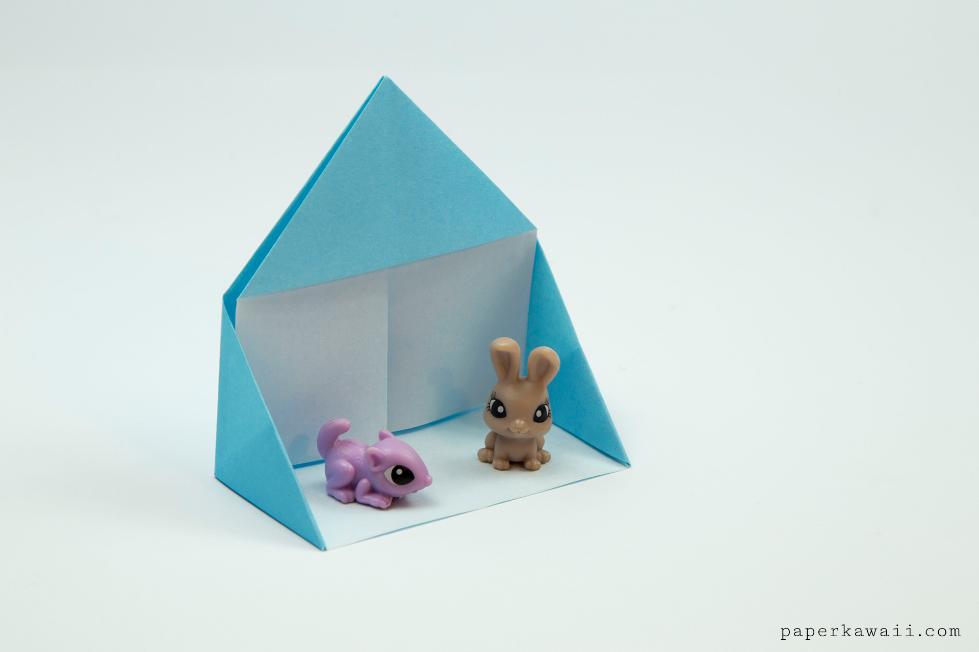 Easy Origami Dollhouse Tutorial - DIY Paper House! & Easy Origami Dollhouse Tutorial - DIY Paper House! - Paper Kawaii