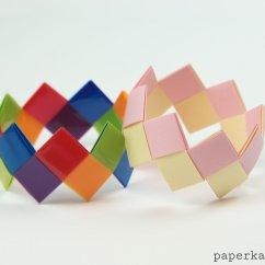 Diagram Origami Bracelet Triumph Bonneville T140 Wiring Modular Tutorial Easy And Pretty Paper
