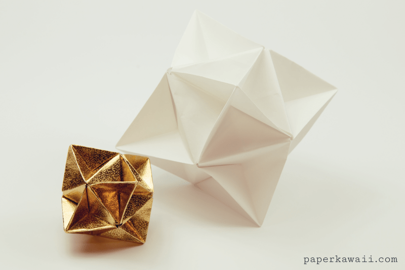 Origami Cube Star Decoration Tutorial via @paper_kawaii