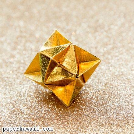 Origami Cube Star Christmas Decoration Tutorial