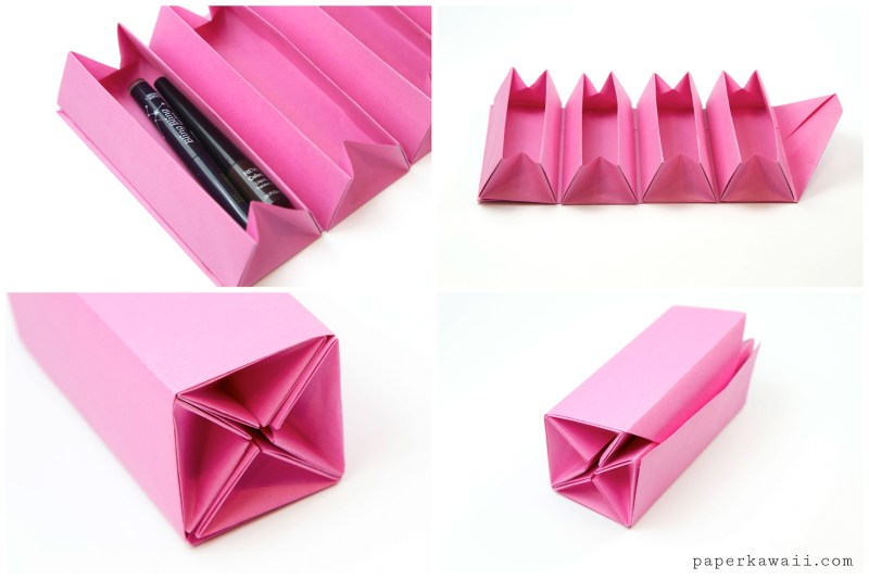 Origami Accordion Box Tutorial - DIY Roll Up Box