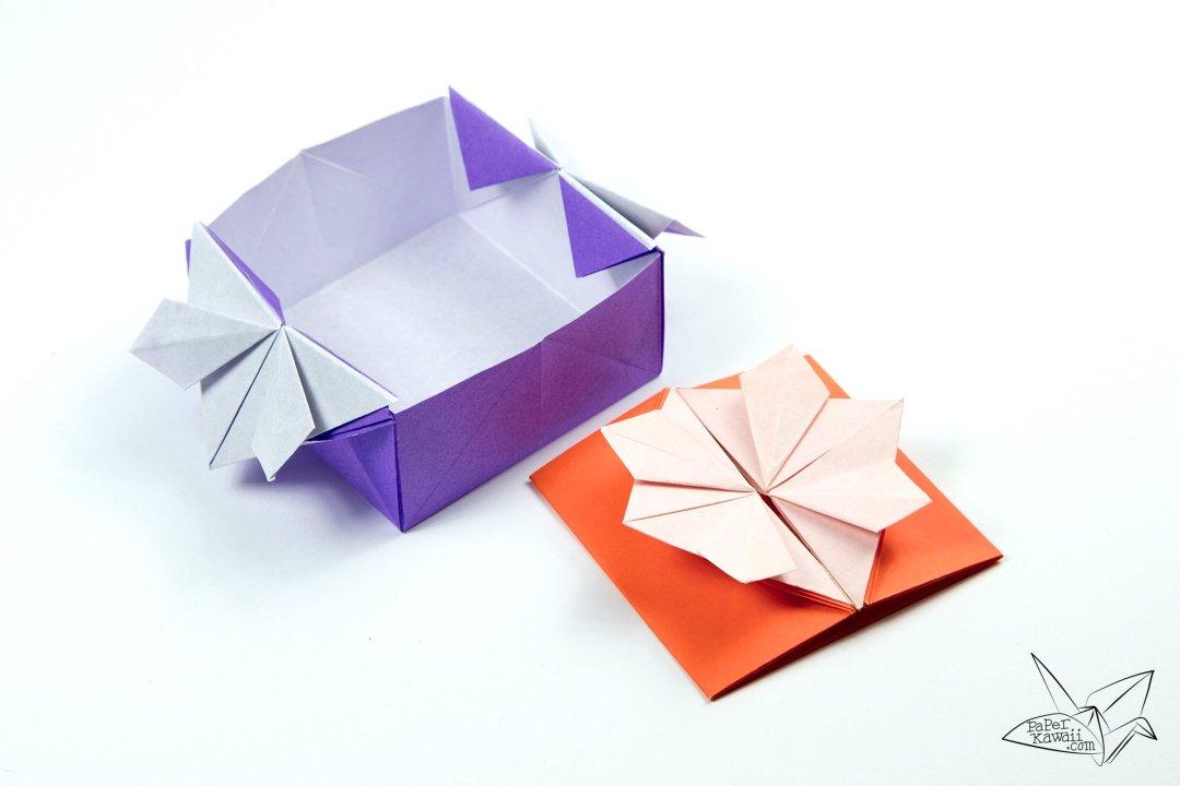 Origami Popup Envelope Box Tutorial via @paper_kawaii