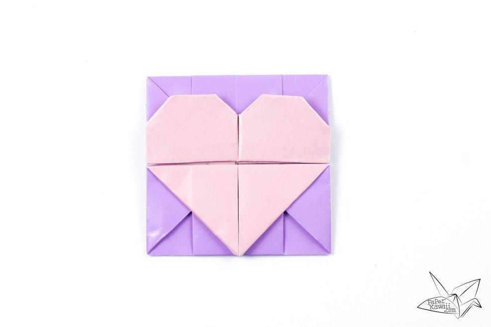 Origami Opening Heart Box / Envelope Tutorial via @paper_kawaii
