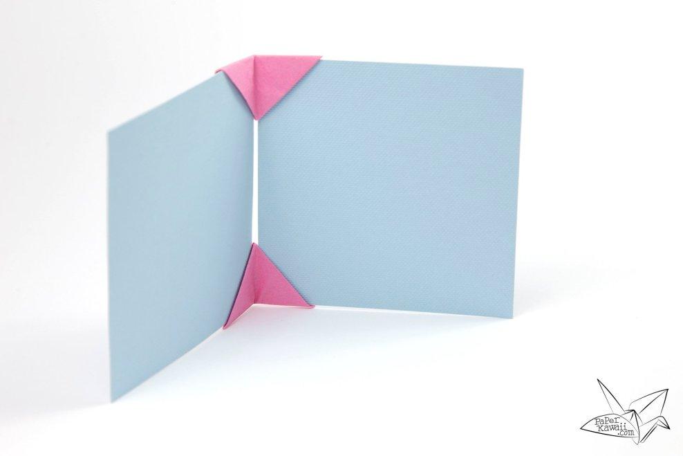 Origami Photo Frame Tutorial - Make a Photo Display! via @paper_kawaii
