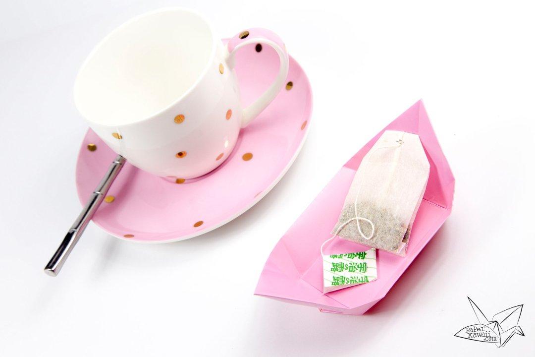 traditional origami tea plate tutorial paper kawaii