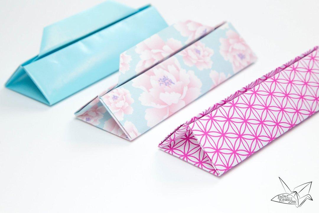 Triangular Origami Box Tutorial - Gift Box via @paper_kawaii