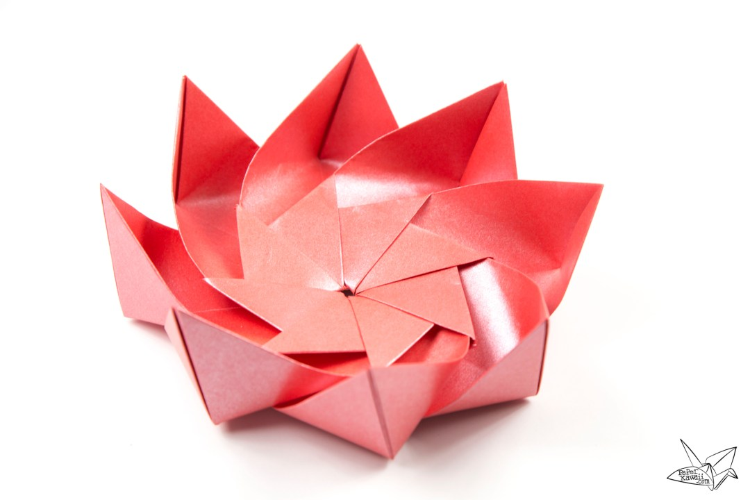 How to Make a Simple Origami Lotus Flower: 14 Steps | 720x1080