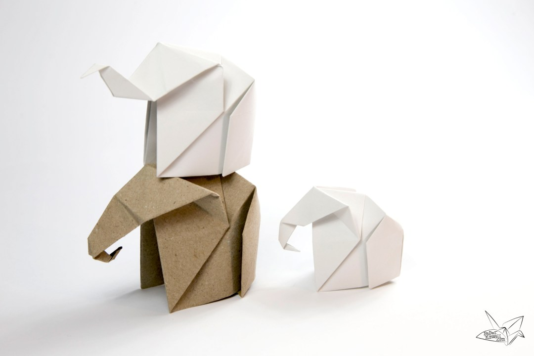 Origami Elephant - Origami Easy - YouTube | 720x1080