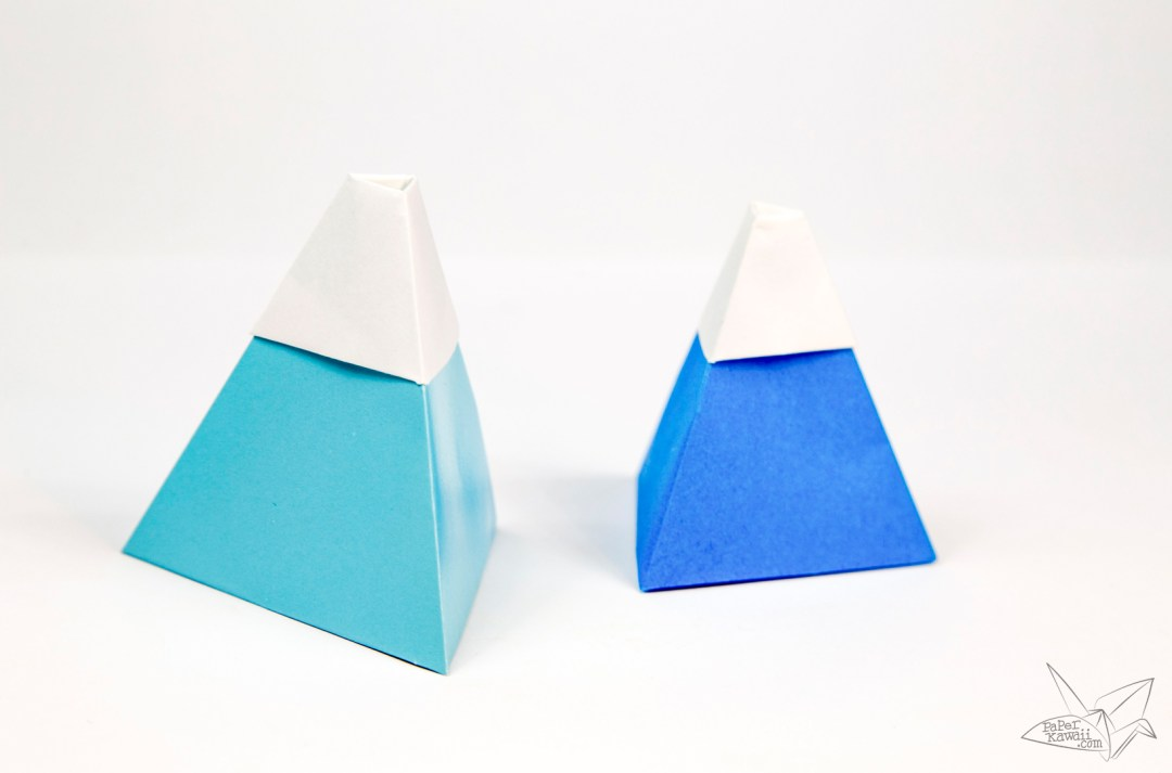 Origami Mount Fuji Tutorial! via @paper_kawaii