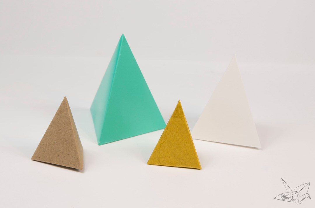 Origami Tetrahedron - 3 Sided Pyramid Tutorial