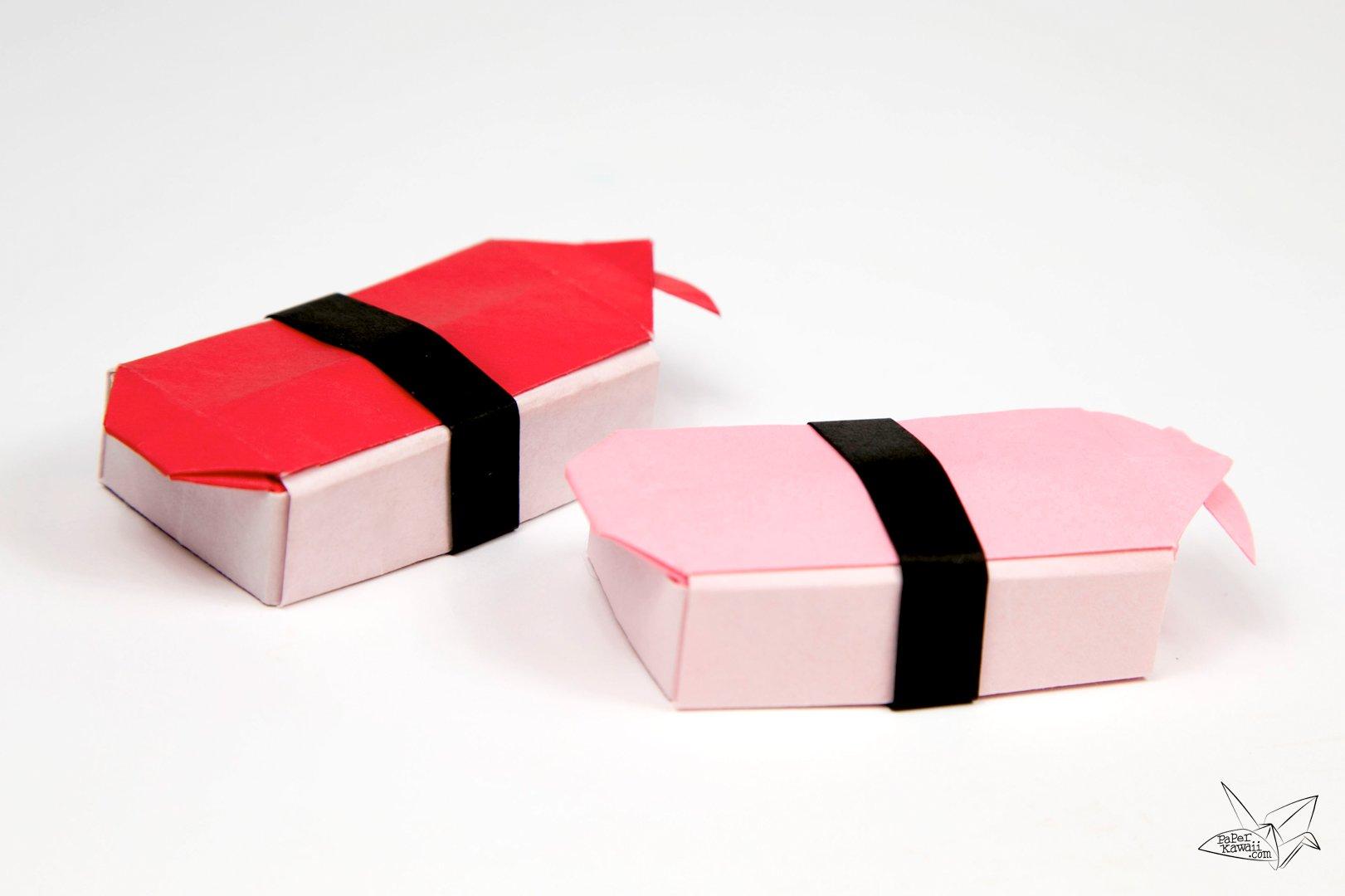 Origami Sushi Boxes Tutorial - Paper Kawaii - photo#4