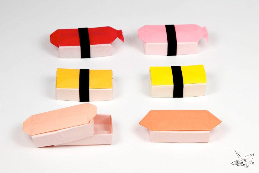 Origami Sushi Boxes Tutorial