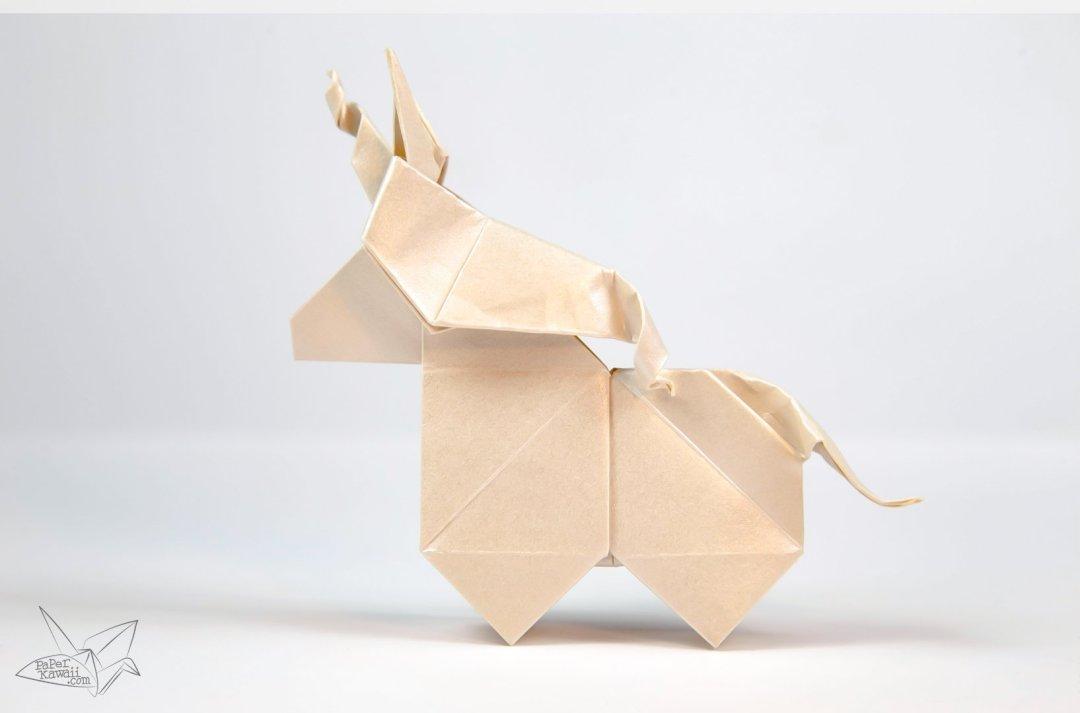 origami unicorn tutorial paper kawaii