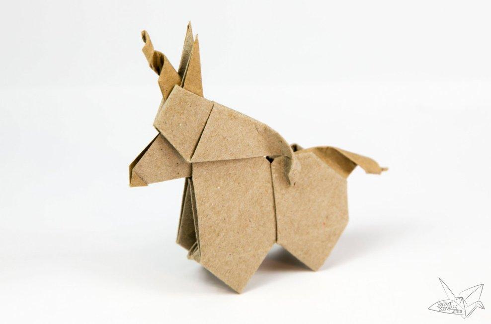 Origami Unicorn Tutorial via @paper_kawaii