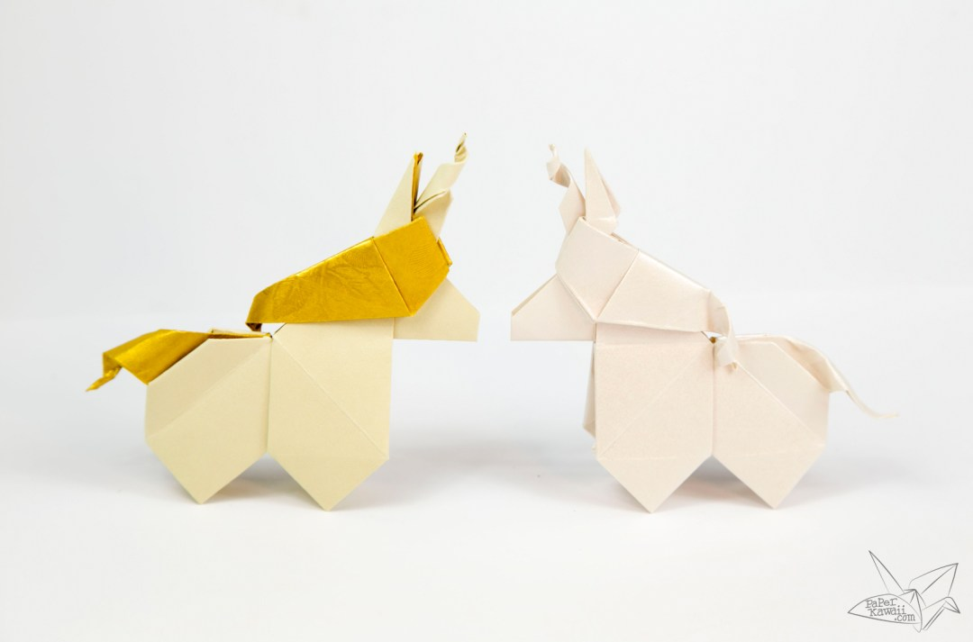Origami Unicorn Tutorial via @paper_kawaii