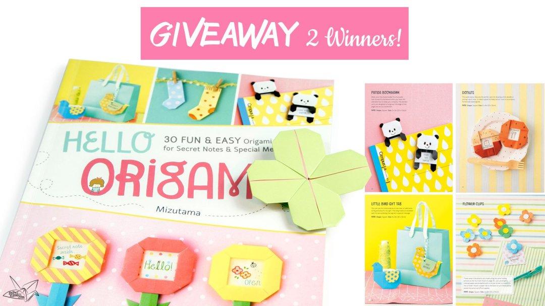 GIVEAWAY - Hello Origami by Mizutama! 2 Winners!