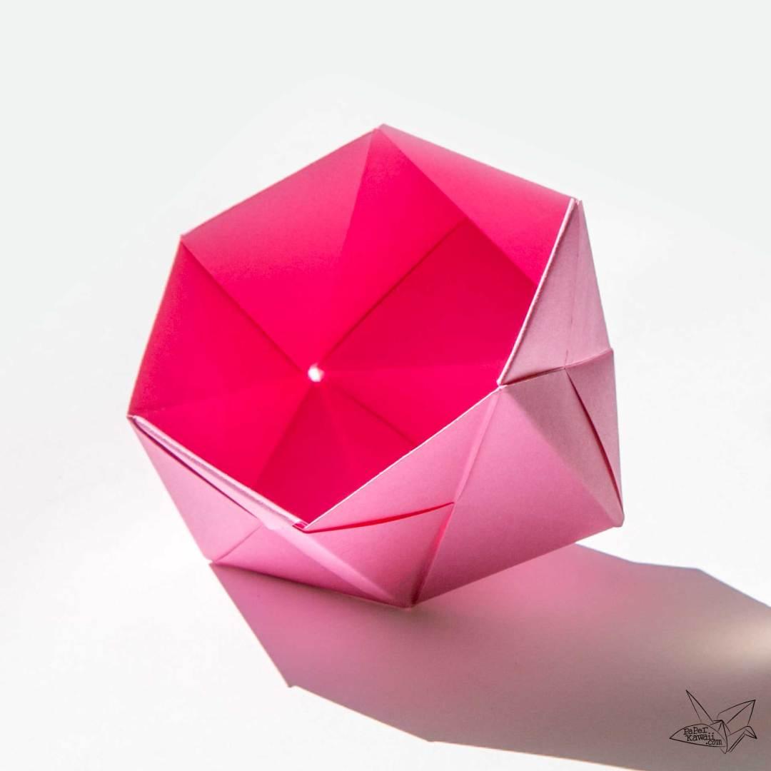 Modular Origami Sonobe Bowl Tutorial