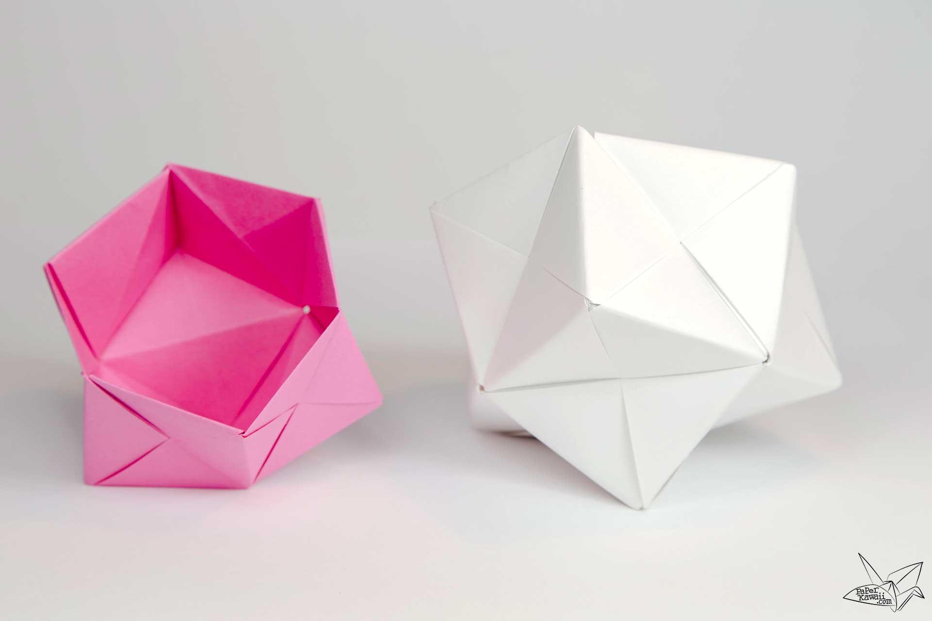 cool modular origami diagram cat5 poe wiring sonobe bowl tutorial paper kawaii