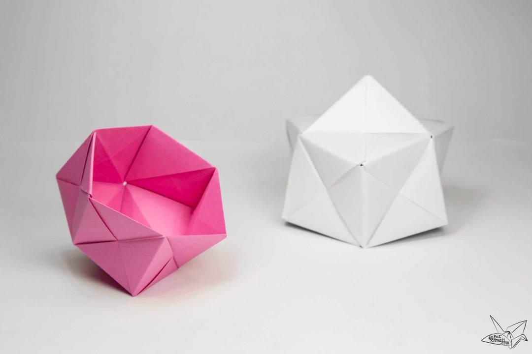 modular origami sonobe bowl tutorial paper kawaii